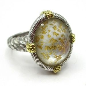 Judith Ripka Gold Flake Quartz Ring 8